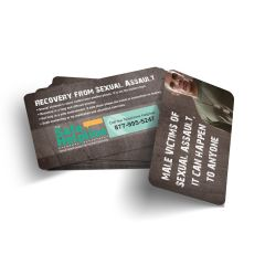 Male Sexual Assault Wallet Card
