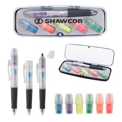 Tri-Color Pen & Highlighter Set