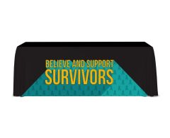 I Believe and Support Survivors Convertible Table Throw