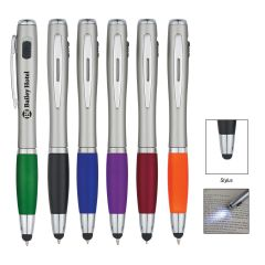 Trio Pen w/ LED Light & Stylus
