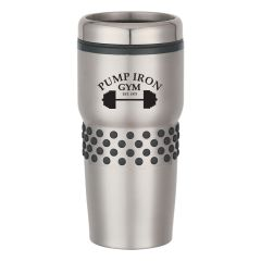 16 Oz. Steel Tumbler W/Dotted Grip