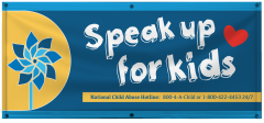 4' x 10' Speak up for Kids Vinyl Banner