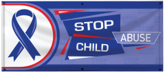 4' x 10' Stop Child Abuse Vinyl Banner