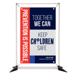 Child Abuse 3' Table Top Double Sided Banner