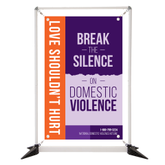 Domestic Violence 3' Table Top Double Sided Banner