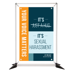 Sexual Harassment 3' Table Top Double Sided Banner