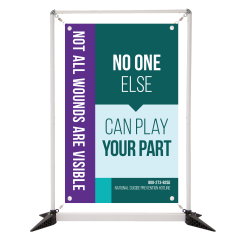 Suicide Prevention 3' Table Top Double Sided Banner