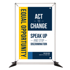 Types of Discrimination 3' Table Top Double Sided Banner