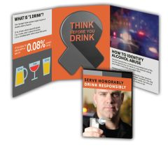 Alcohol Abuse Booklet with Awareness Ribbon Magnet