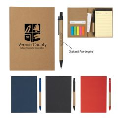 Meeting Notebook With Pen And Sticky Flags