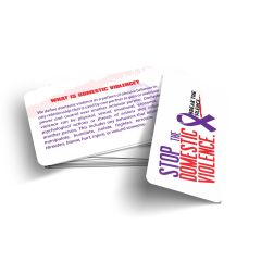 Stop Domestic Violence Wallet Card.