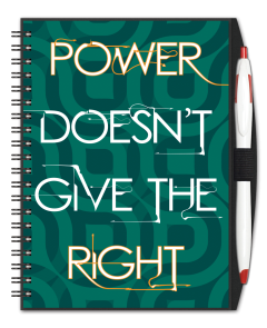 Power Doesn't Give The Right Journal w/ Pen
