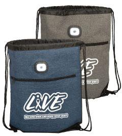 LED Light Drawstring Backpack