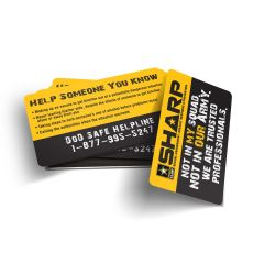 SHARP I AM The Force Behind The Fight Wallet Card