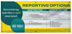 4' x 10' Reporting Options Vinyl Banner Exclusive Design