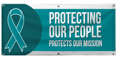 4' x 10' Protecting Our People Vinyl Banner