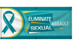 4' x 10' Eliminate Sexual Assault Vinyl Banner