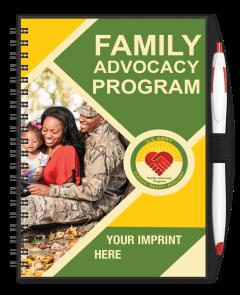 Army Family Advocacy Program Journal w/ Pen