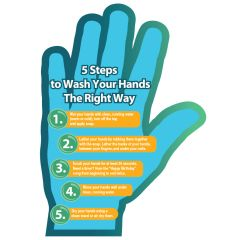 Hand Washing Tips Shaped Magnet