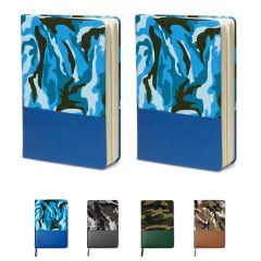 Canvas Camo Hard Cover Journal