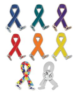 Ribbon Walk Lapel Pin