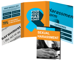 Sexual Harassment Ribbon Booklet with Awareness Ribbon Magnet