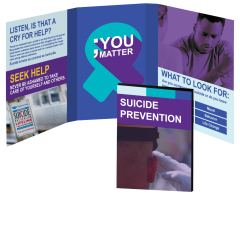 Suicide Prevention Booklet with Awareness Ribbon Magnet